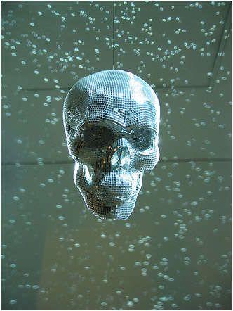 Tete de mort Disco Balle Halloween Horreur Décoration