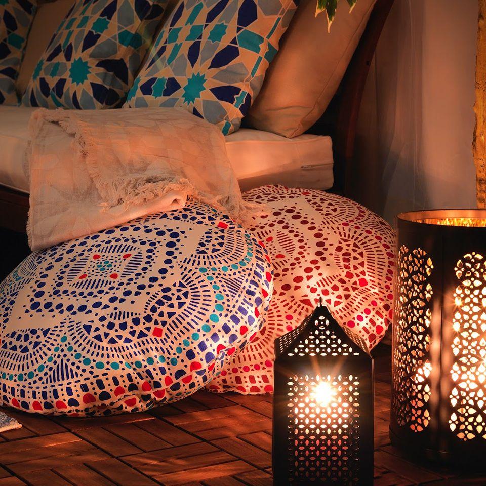 اجعل جلسة العائلة والأصدقاء أكثر بهجة وراحة مع الوسائد الأرضية الجديدة من ايكيا Ramadan Kareem Decoration Ramadan Decorations Ramadan