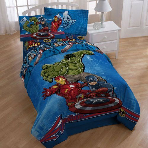 Marvel Comics Avengers Full Size Bed In A Bag With Sheet Set
