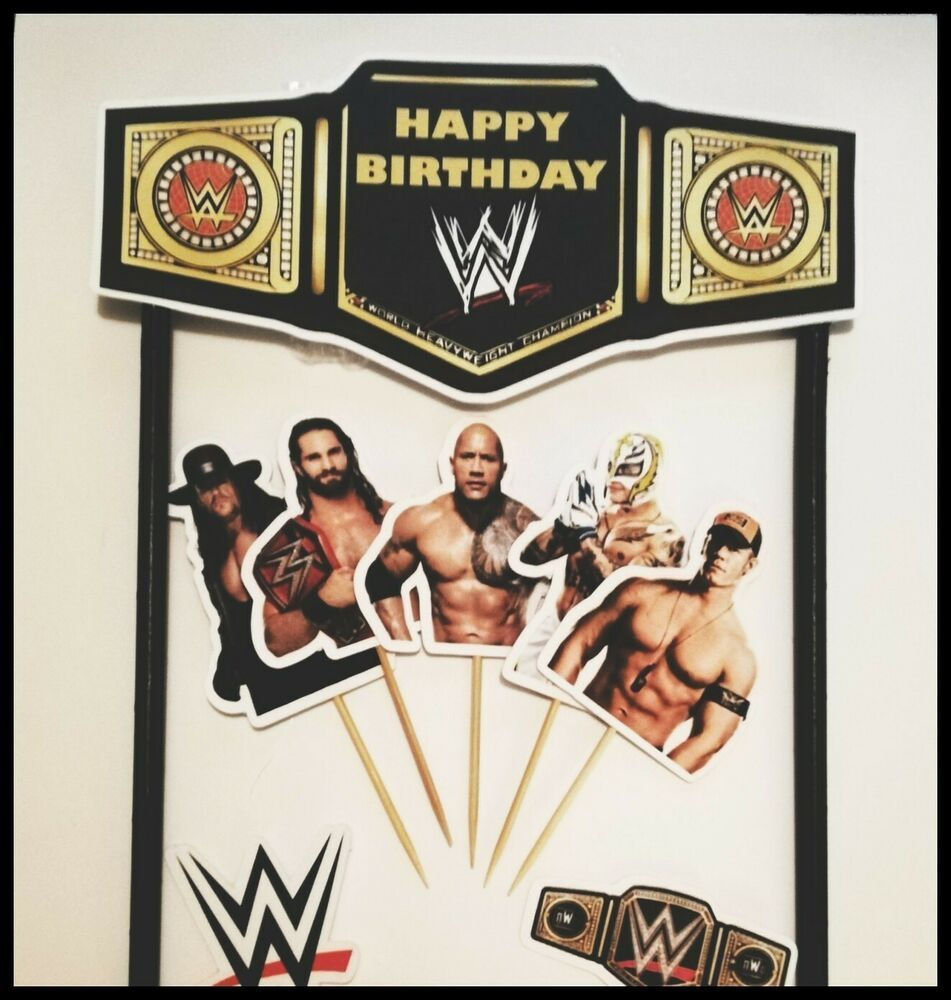 Fine Wwe Cake Banner Cake Toppers Birthday Wrestlers John Cena Wwe Cake Personalised Birthday Cards Cominlily Jamesorg