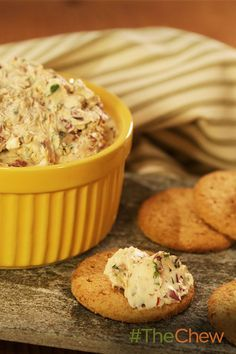 This delicious Olive Cracker Spread can be made in just one minute!