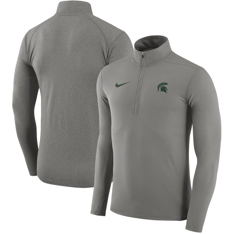 Michigan State Spartans Nike Element Performance Half-Zip Pullover Jacket -  Heathered Gray e027080ff