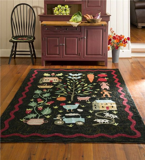 Main Image For Contemporary Folk Art Hand Hooked Rug 8 27