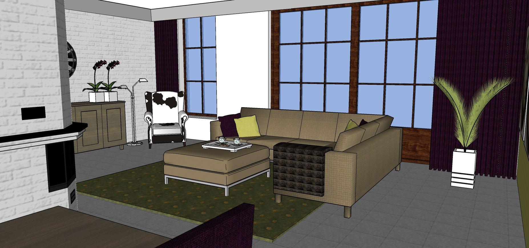Afbeeldingsresultaat voor indeling l vormige woonkamer   Idee Steur ...