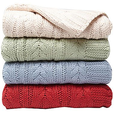 jcp | Scene Weaver™ Divine™ Cable-Knit Throw