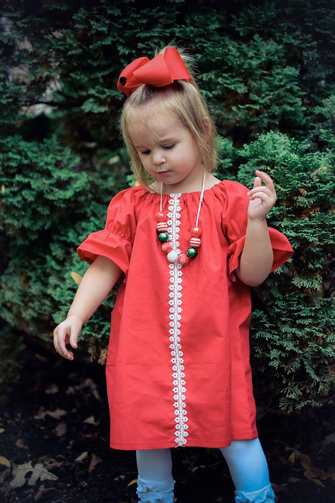 67772cd1b695 Girls Christmas Dress, Girls Christmas Outfit, Girls Red Dress, Baby Christmas  Dress,