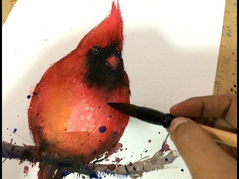 Paint A Quick Red Cardinal In Watercolors Youtube With Images
