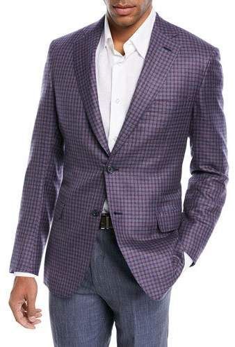 3cc0f523 Brioni Cashmere-Silk Check Jacket in 2019 | Products | Jackets ...