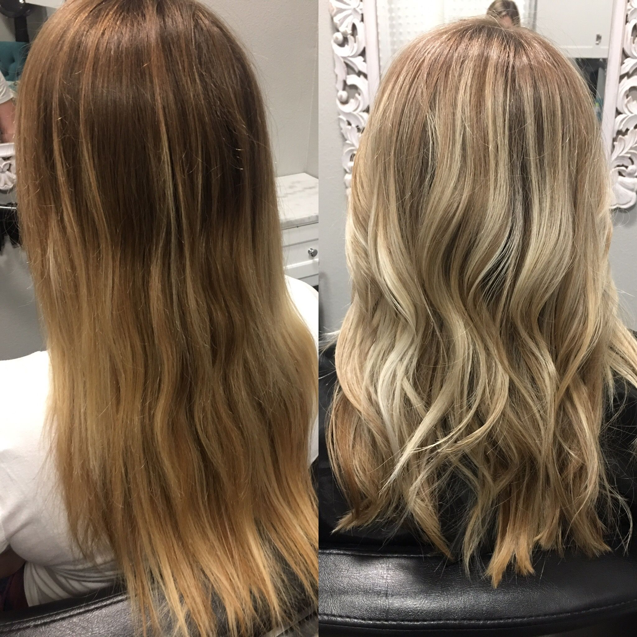 Hair Before And After Blonde Highlights Blonde Highlights