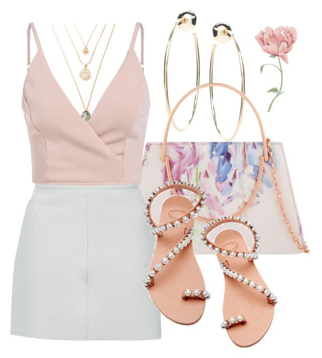 """Untitled #1183"" by fervi ❤ liked on Polyvore featuring Bebe, Ted Baker, Topshop and Elina Linardaki"