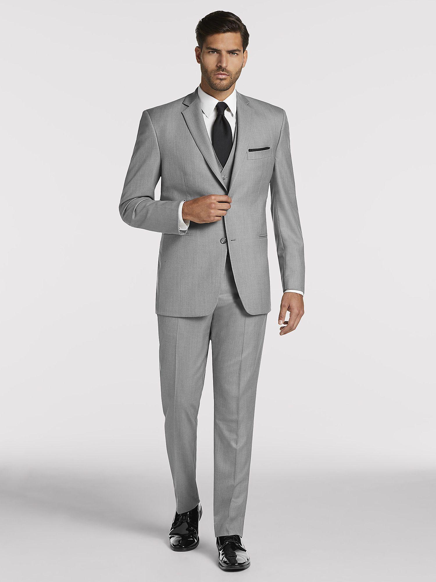 Vintage Men's Grey Suit by Pronto Uomo Suit Rental