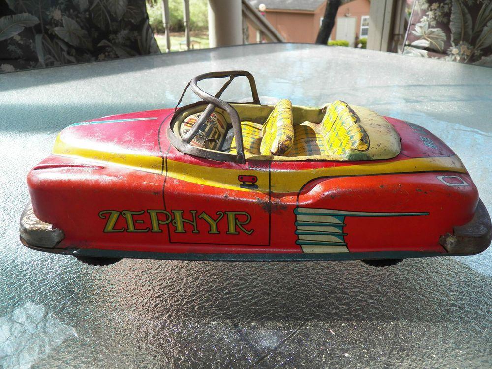 Vintage Zephyr Tin Toy Car, Made In Japan Toy car, Tin