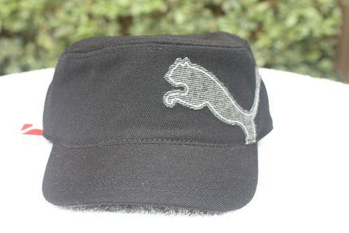 b7d559b2a7e Puma Golf Military Cap Hat Black and Grey Adjustable One Size MG87 ...