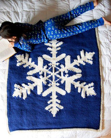 hibernate knitted snowflake blanket | Knit Blanket | Pinterest ...