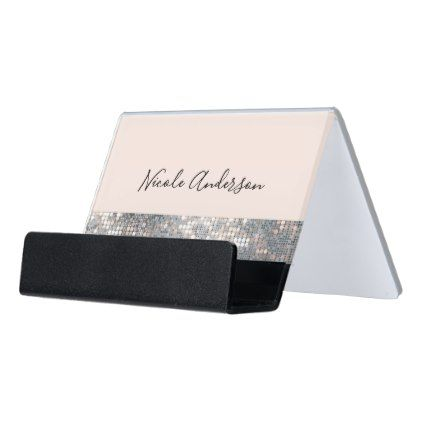 Blush pink sparkle sequins modern glam glamour desk business card blush pink sparkle sequins modern glam glamour desk business card holder chic gifts colourmoves