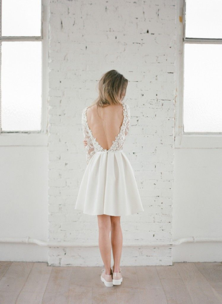 Robe de mariee civil courte