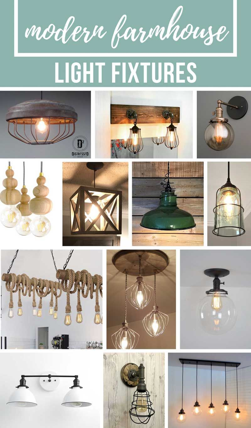 Modern farmhouse light fixtures Dining Room If Youre Looking To Bring Your Home Decor To More Of Modern Farmhouse Style Youre Going To Love All Of These Farmhouse Light Fixtures Ive Rounded Up Pinterest Modern Farmhouse Light Fixtures Farmhouse Home Decor Farmhouse