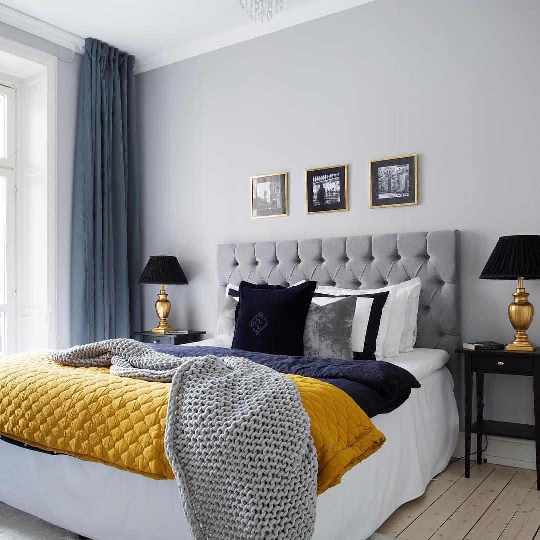 Master bedroom navy blue  Oldie but goldie Love this bedroom and the colors are amazing