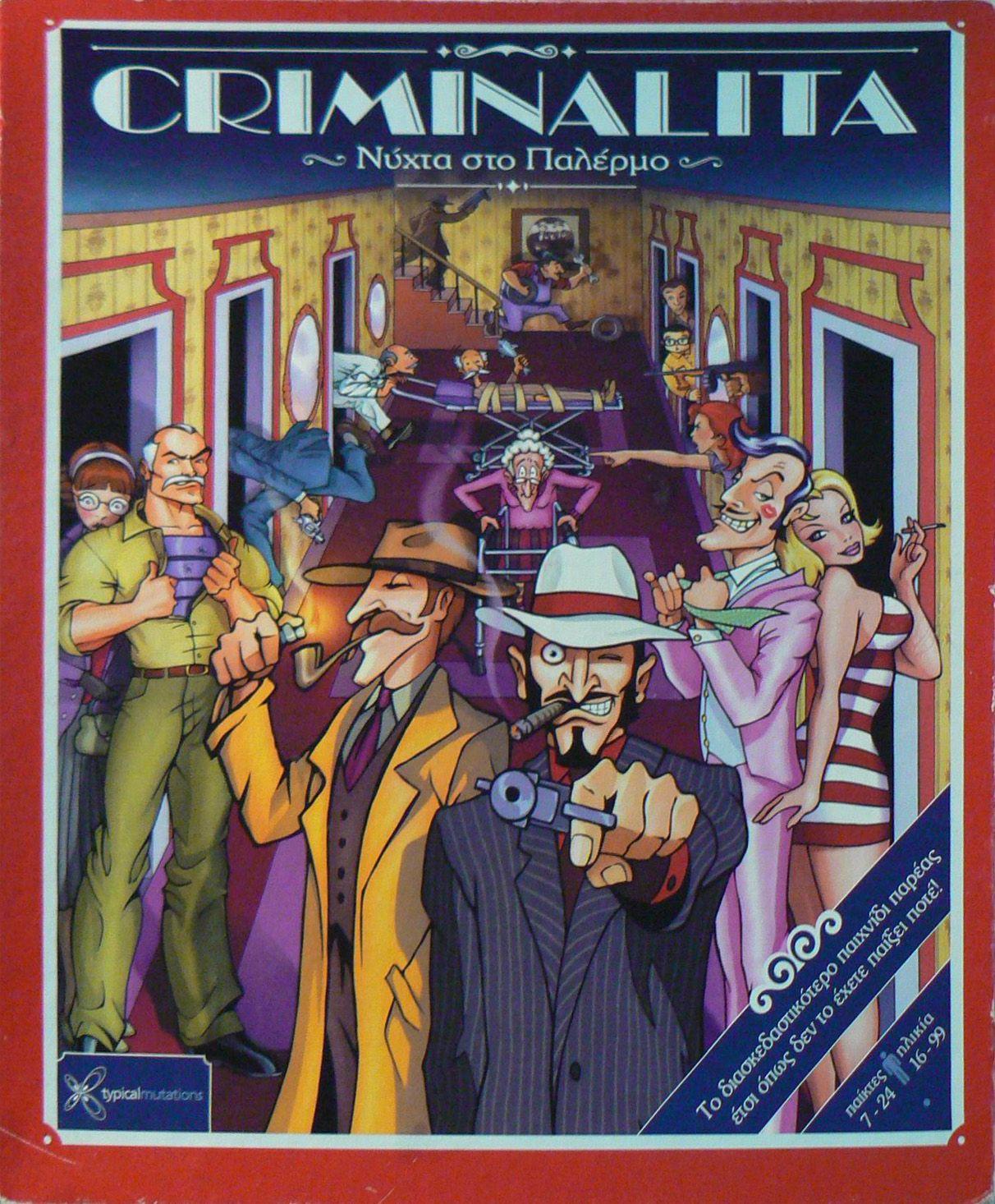Criminalita Board games, Comic book cover, Mafia
