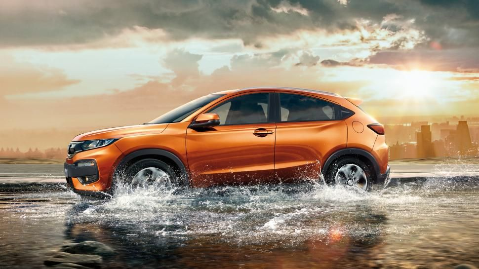 Honda Xr V Orange Suv Car In Water Wallpaper Honda Hrv Honda Car Models Honda