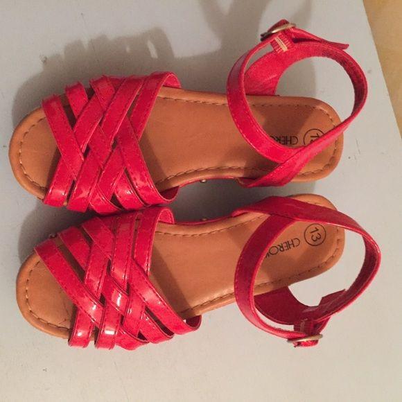Little girl wedge type sandals | Girls