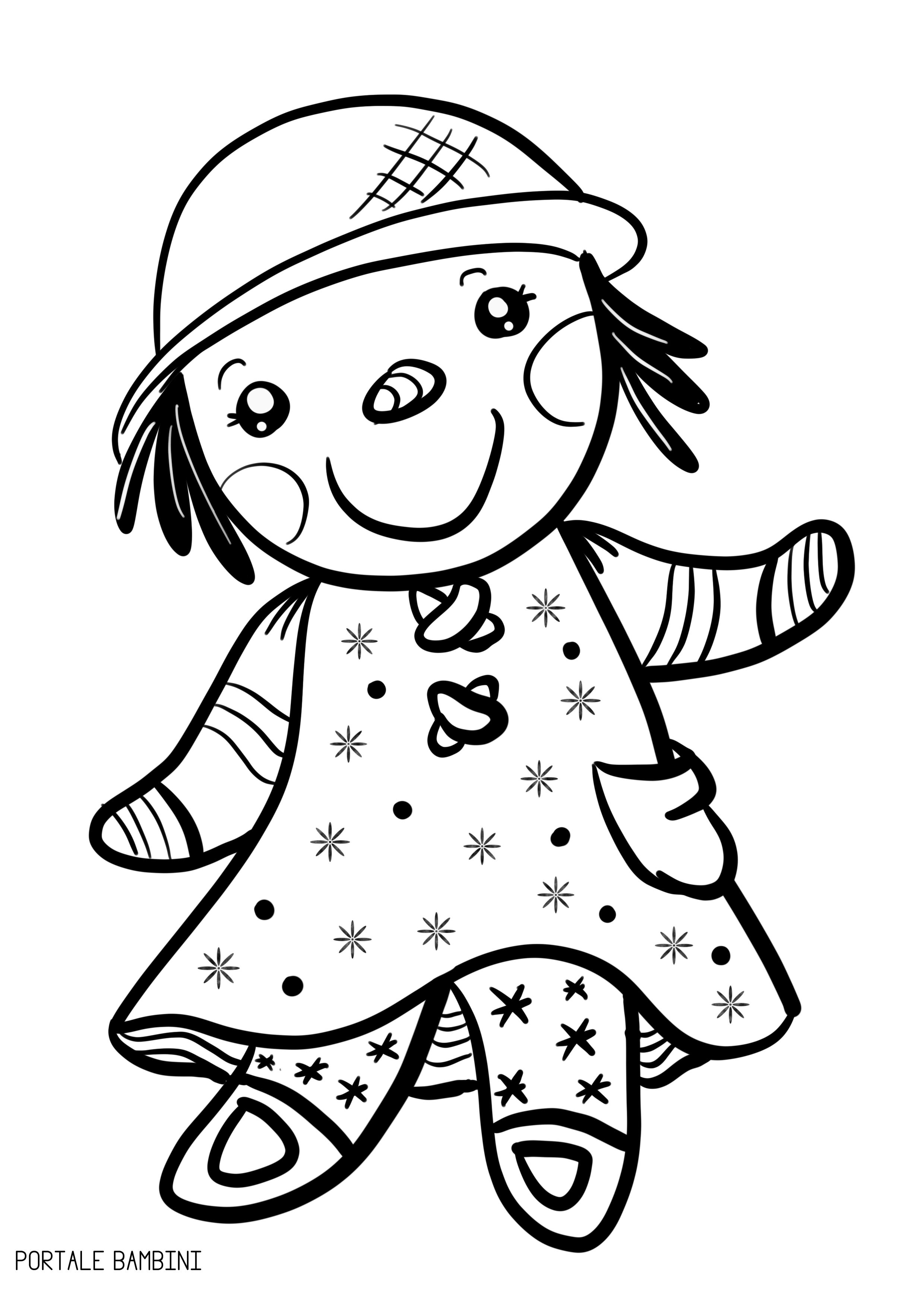Bambola Da Colorare.Questa E La Nostra Collezione Di Disegni Di Bambole Da Colorare