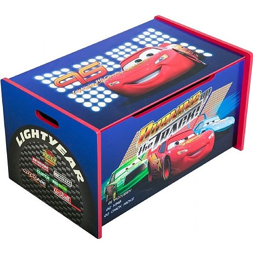 Cars The Movie Wooden Toy Box Delta Enterprises Toys R Us Cars Toy Box Wooden Toy Boxes Disney Cars Toys