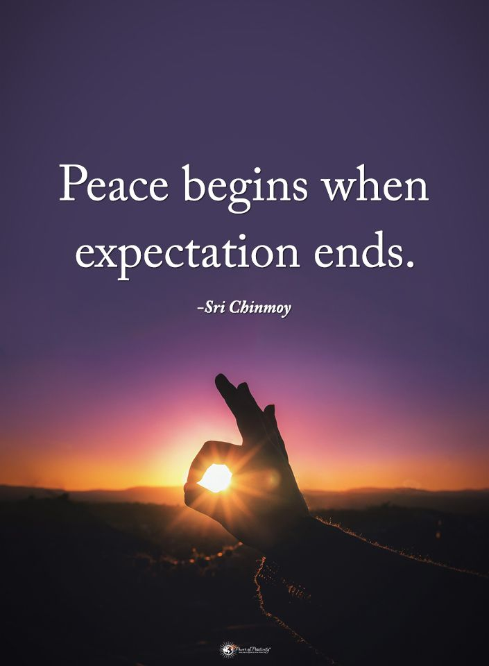 Peace Begins When Expectation Ends Sri Chinmoy Powerofpositivity Positivewords Positivethinking In Expectation Quotes Emotional Quotes Memories Quotes