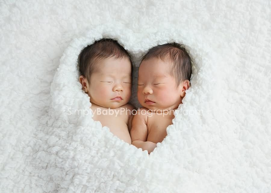 Cute Newborn Twin Babies