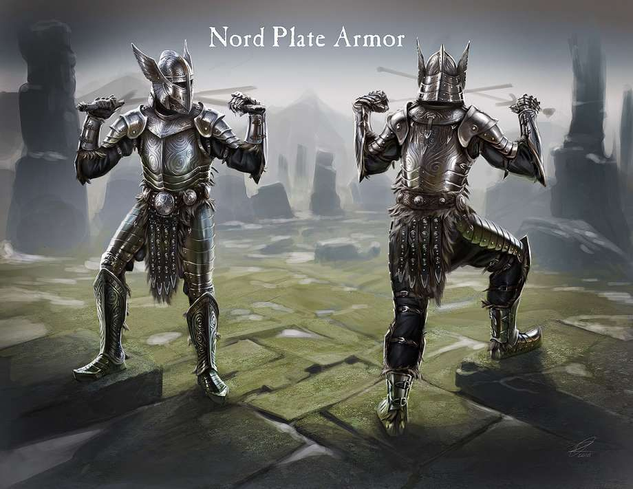 Male Nord Plate Armor Video Games Artwork Elder Scrolls Ancient Nord Armor Elder Scrolls Art