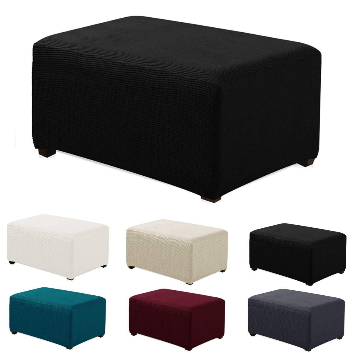 Stretchy Fabric Footstool Cover Square Ottoman Protector Stretch Slipcover For Home Sofa Furniture From Home And Garden On Banggood Com In 2020 Square Ottoman Slipcovers Ottoman Slipcover