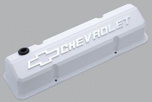 Proformparts Com White Chevrolet Small Block Slant Edge Valve Covers Valve Cover Valve Chevrolet
