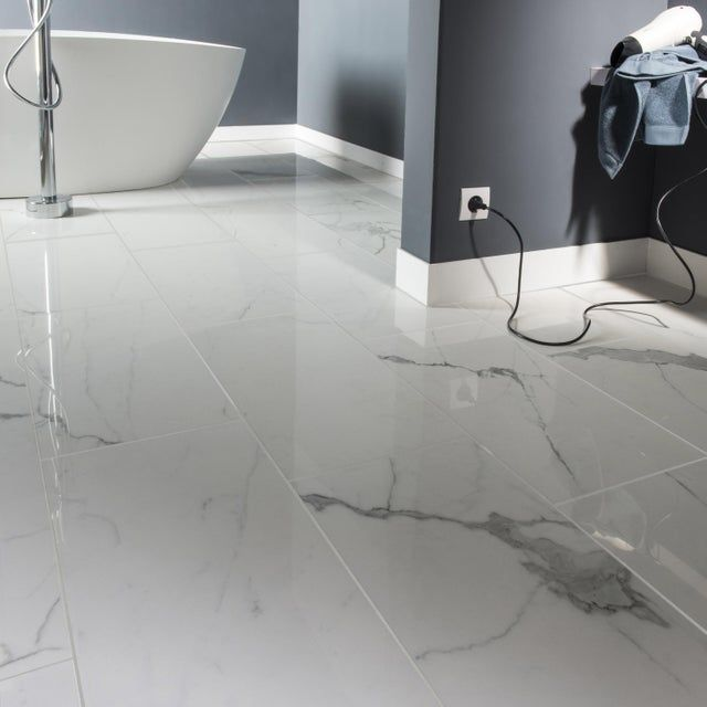 Carrelage Sol Mur Intenso Marbre Blanc Rimini L 30xl 60 Cm Cerim Inspired 39 Carrelage Effet Marbre Marbre Blanc Carrelage Imitation Marbre