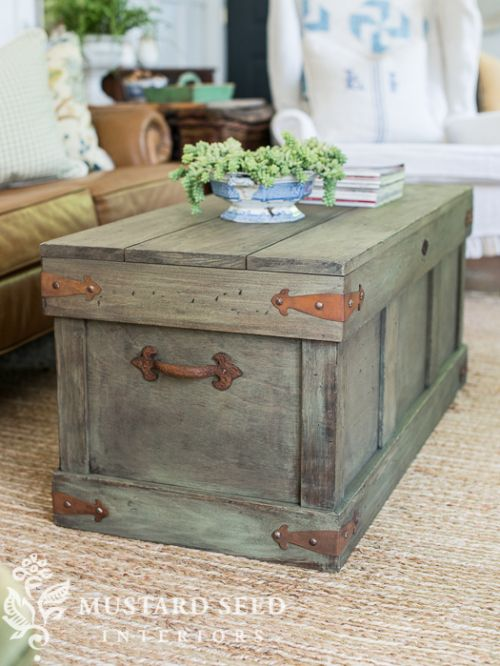 miss mustard seed pottery barn inspired trunk table