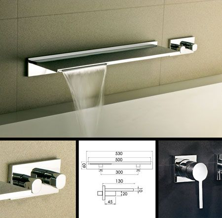 Exceptional Waterblade Waterfall Bath Filler Tap (38E)