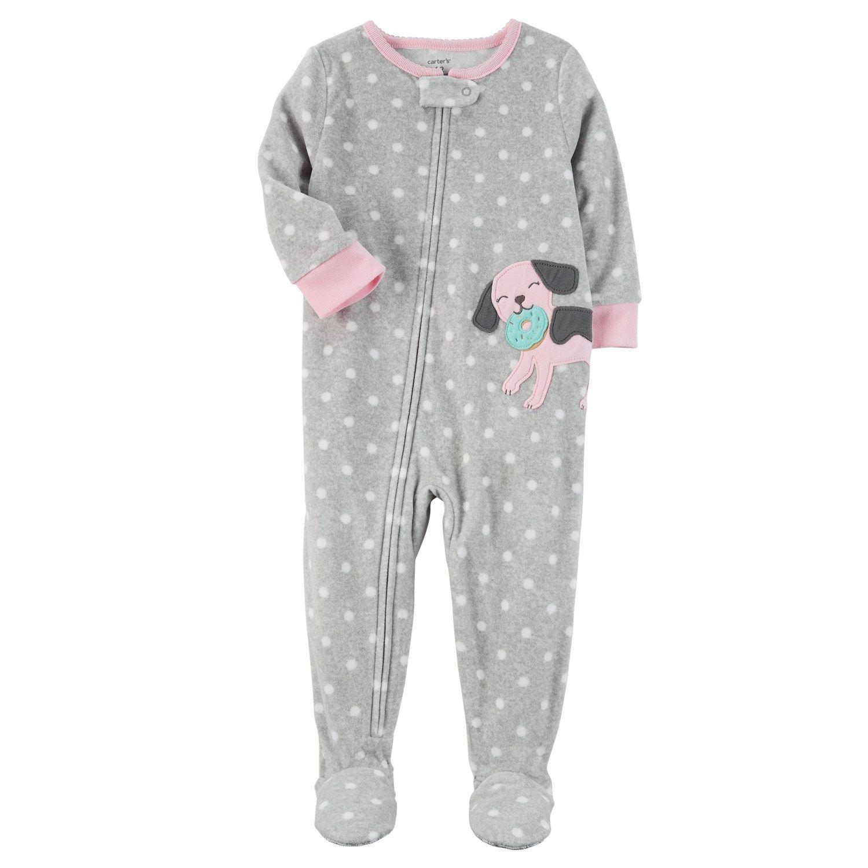 c6ea583d757d Baby Girl Carter s Animal Applique Fleece Sleep   Play