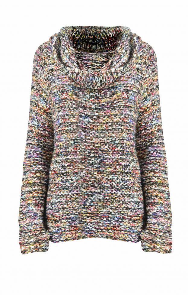 a62ab6966520 Γυναικείο πλεκτό πουλόβερ πολύχρωμο