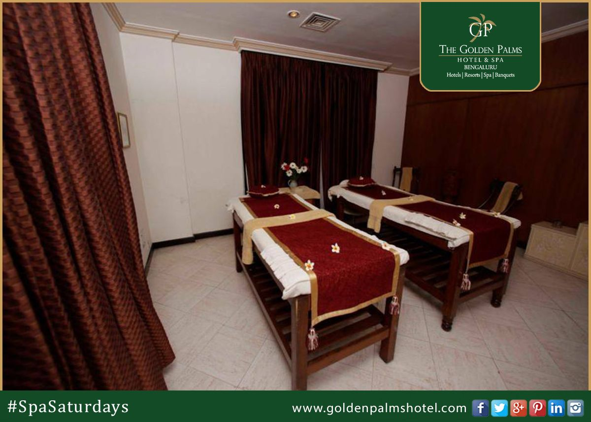 Eva Spa at The Golden Palms, Bengaluru symbolizes 'Complete Wellness and Relaxation'. Visit www.goldenpalmshotel.com for more details. #SpaSaturdays
