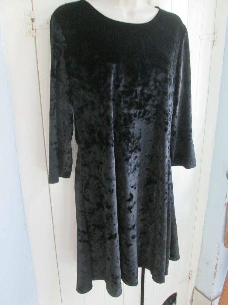 03bab15346f8 Next - Black velvet tunic dress - size 16  fashion  clothing  shoes ...