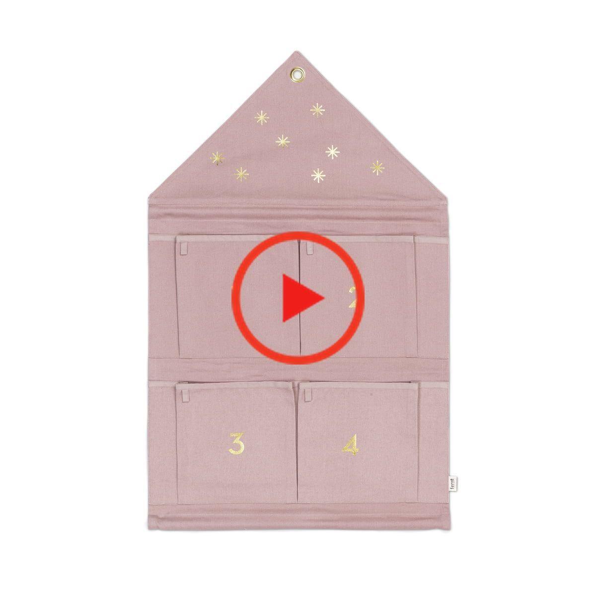 Ferm LIVING - Maison Calendrier de l'Avent 4 compartiments, rose