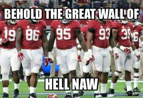 Bama S Defensive Line There S A Wall You Don T Want To Hit