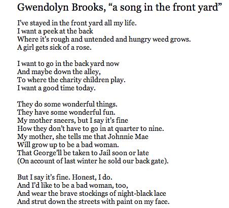 Sonnet ballad gwendolyn brooks