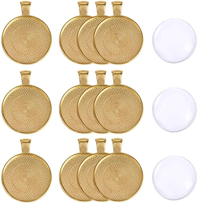 اشتري اونلاين بأفضل الاسعار بالسعودية سوق الان امازون السعودية 40 قطعة من صواني القلادات مع إطار دائري من الزجاج كابوشون بقط Jewerly Ring Saddle Bags Jewerly