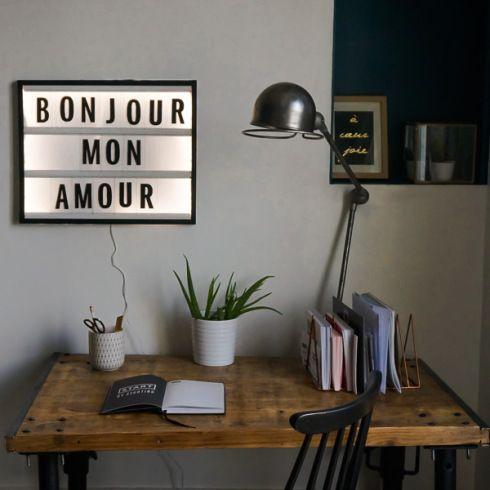 deco diy lightbox home design pinterest deco. Black Bedroom Furniture Sets. Home Design Ideas