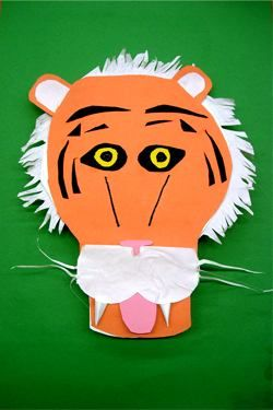 3D Paper Animal Masks - A lesson that uses colored construction paper and posterboard as a pop-up image.