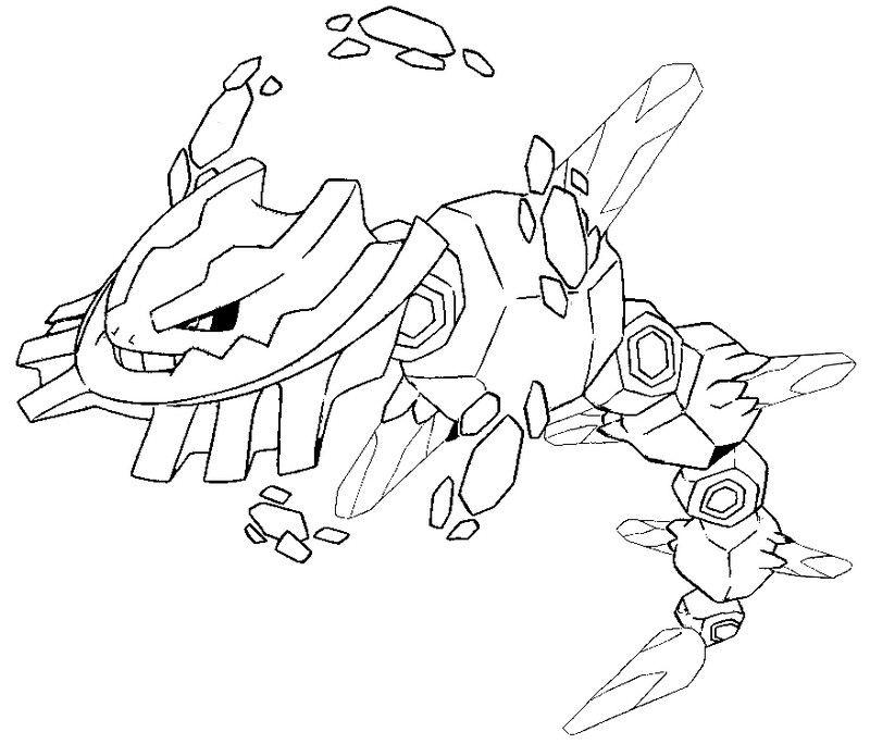 Mega Steelix 208 LineArt Pokemon Detailed Pinterest