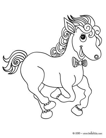 Horse Running Coloring Page