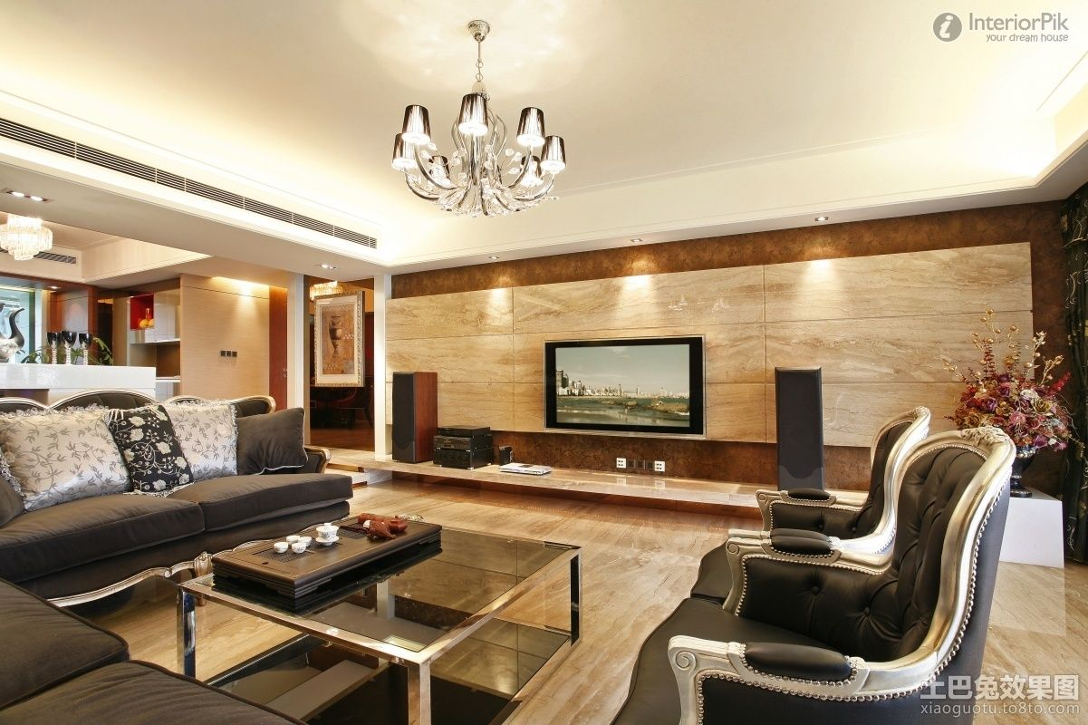 Wall Tv Decoration Modern Living Room With Tv On Wall