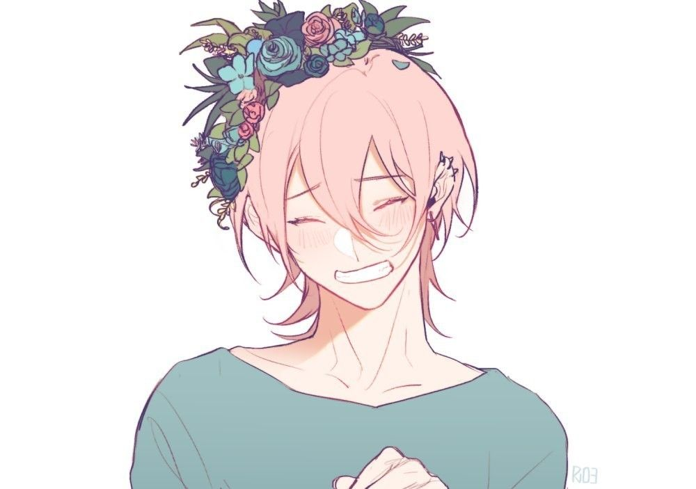 It is a graphic of Selective Flower Boy Drawing