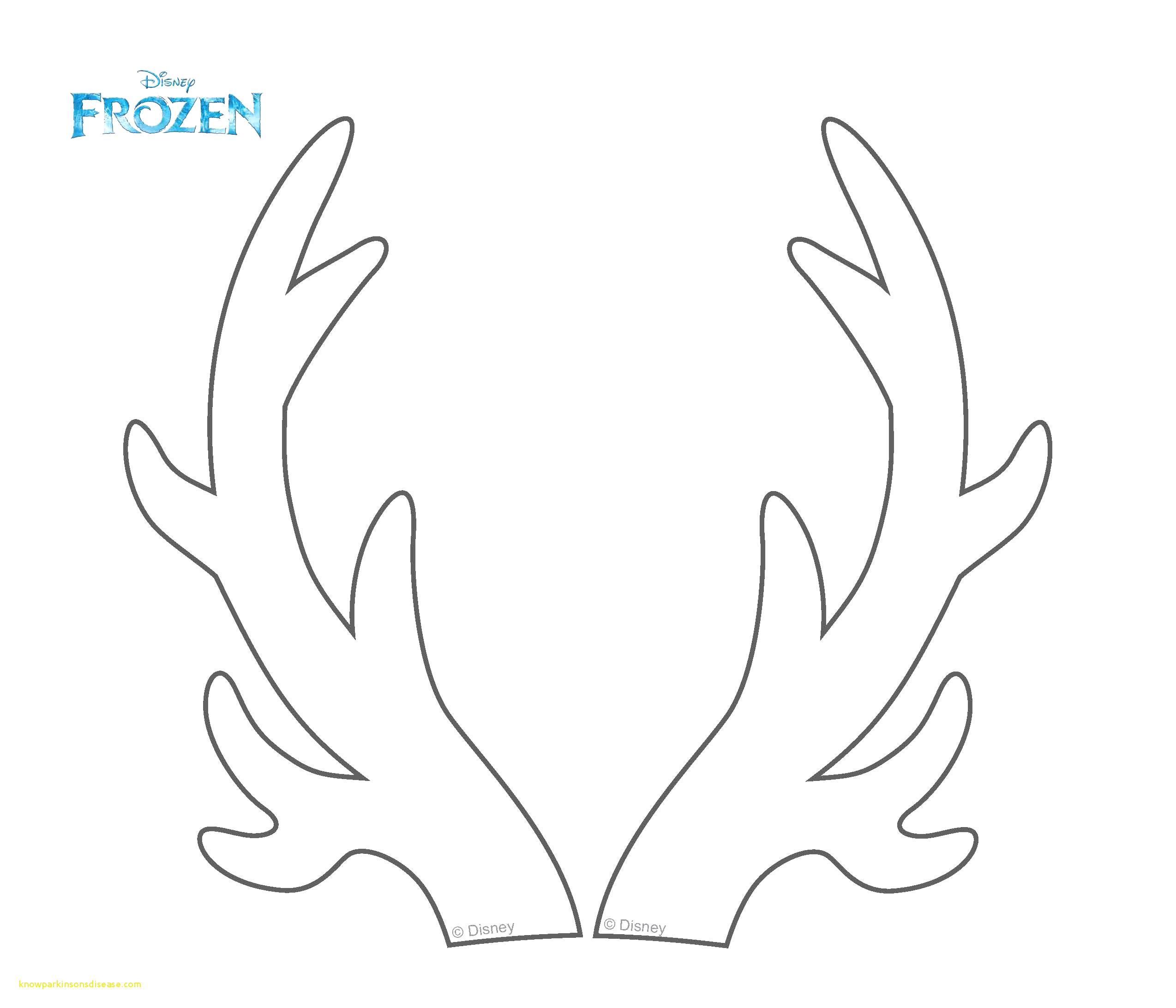 Reindeer Antlers Coloring Page Xl Display